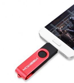 Disque amovible MOWEEK 2 en 1 USB OTG pour smartphone et PC