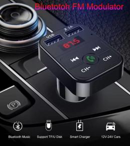 Lecteur Transmetteur FM Multifonction Bleutooth 12V pour Voiture