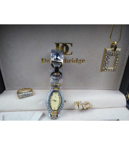 Ensemble Montre+Collier+Boucles d'oreilles+Bague DECAMBRIDGE