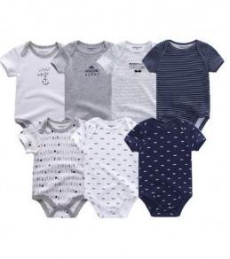 Vêtements pour Bébé lot de 7 Barboteuse pour bébé unisexe de 6 Mois
