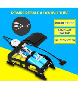 Pompe Pedale Dual Tube pour Gonflage de Pneu avec Manomètre