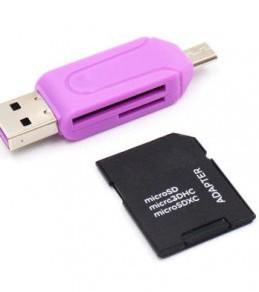 Adaptateur USB OTG Lecteur de carte universelle